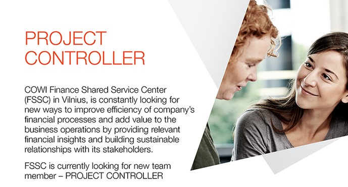 VU Faculty of Economics Project controller at COWI – Project Controller